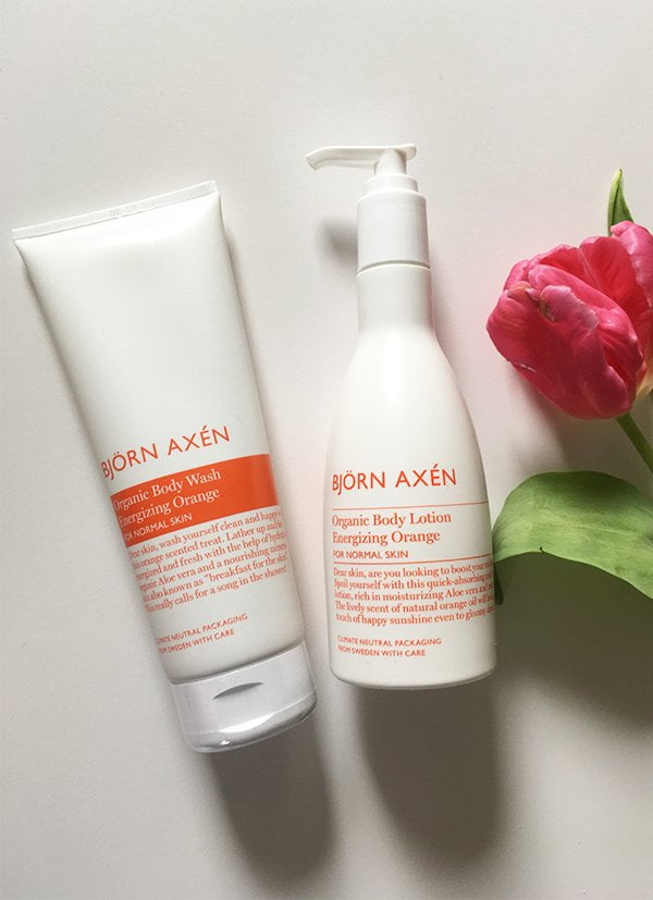 Bjorn Axen Organic Caring Energizing Orange Body Wash and Body Cream (Hey Pretty Review)