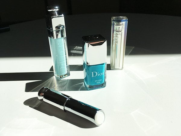 Dior Addict Lip Maximizer in Pool Blue (Summer Look 2018 «Cool Wave»), Image and Review by Hey Pretty