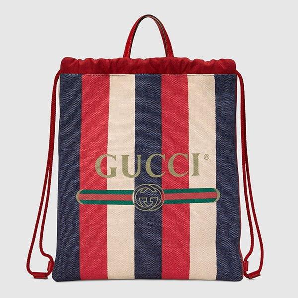 Sommertaschen 2018: Gucci Backpack aus Canvas mit Streifen (Hey Pretty Fashion Flash)