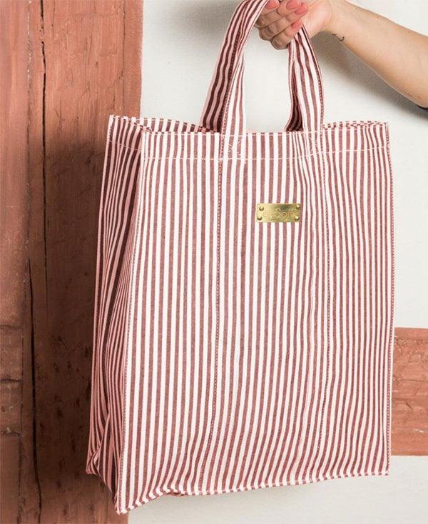 Sommertaschen 2018: En Soie Cabas Tote Bag, Striped Red (Hey Pretty Fashion Flash)