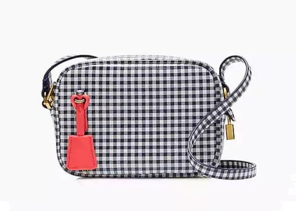 Sommertaschen 2018: J. Crew Mini Signet Bag in Gingham Leather (Hey Pretty Fashion Flash)