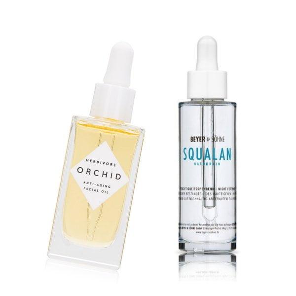 Wirkstoffe in der Hautpflege: Squalan (Herbivore Botanicals Orchid Facial Oil und Beyer & Söhne Squalan) –Hey Pretty Beauty ABC