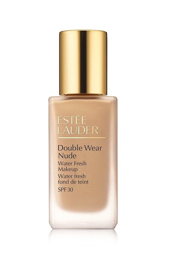 Diese sechs Make-Up Produkte solltest du besitzen: Leichte Foundation (Estée Lauder Double Wear Water Fresh Foundation), Hey Pretty Beauty Blog