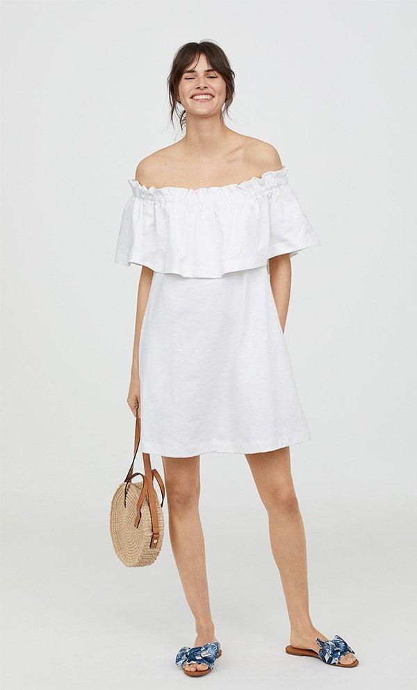 H&M Off-Shoulder Kleid (Hey Pretty Fashion Flash: Romantische Sommerkleider)