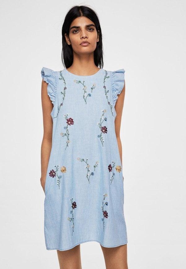 Free People Hängerkleid Rostrot bei Zalando (Hey Pretty Fashion Flash: Romantische Sommerkleider 2018)