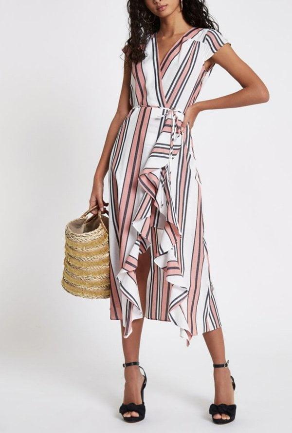 River Island Pink Stripe Wrap Dress (Hey Pretty Fashion Flash 2018: Romantische Sommerkleider)