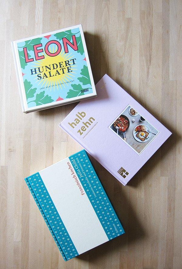 Kochbuch-Liebe Frühling 2018: Leon Hundert Salate, Halb Zehn das Frühstückskochbuch und Julia Child Französisch kochen (Hey Pretty Review)