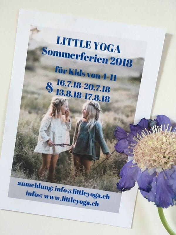 Little Yoga Sommerferien 2018 (Yogakurse für Kinder von 4 bis 11 Jahren) mit Liliane Meier