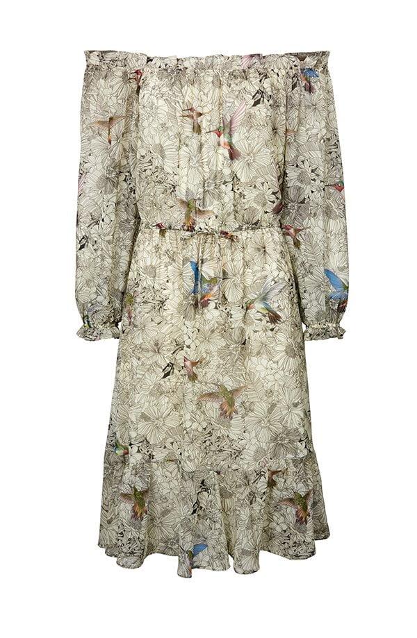 Geschenkideen zum Muttertag 2018: Kleid mit Vogel-Druck von Linea Tesini @ Heine (Hey Pretty Roundup)
