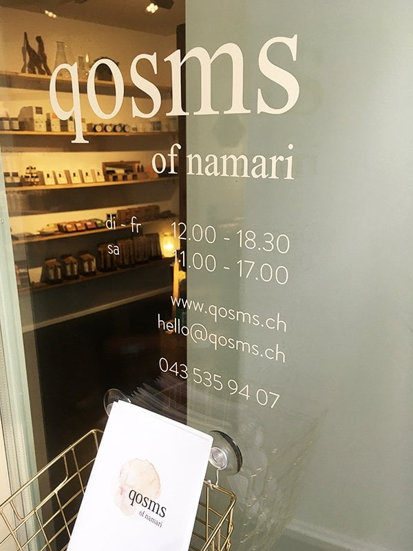 Naturkosmetik mit Style: qosms of namari Shop & Spa in Zürich (Hey Pretty Review)