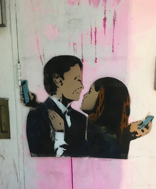 Graffitti an der Rose Street in Edinburgh (Hey Pretty Travels)