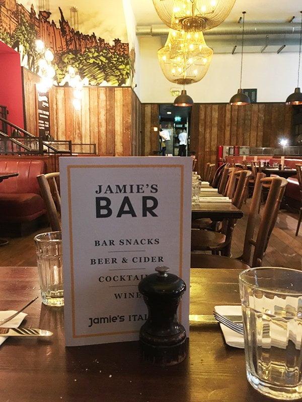 Jamie's Italian Restaurant in Edinburg (Bar-Karte): Hey Pretty Reisetipps