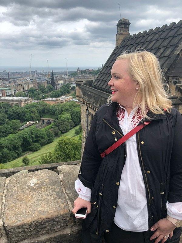 Edinburgh Städtereise mit Hey Pretty: Aussicht vom Castle aus