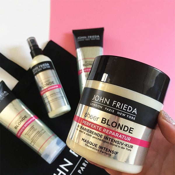 John Frieda Sheer Blonde Perfekte Reparatur Haarpflegelinie: Review und Verlosung auf Hey Pretty