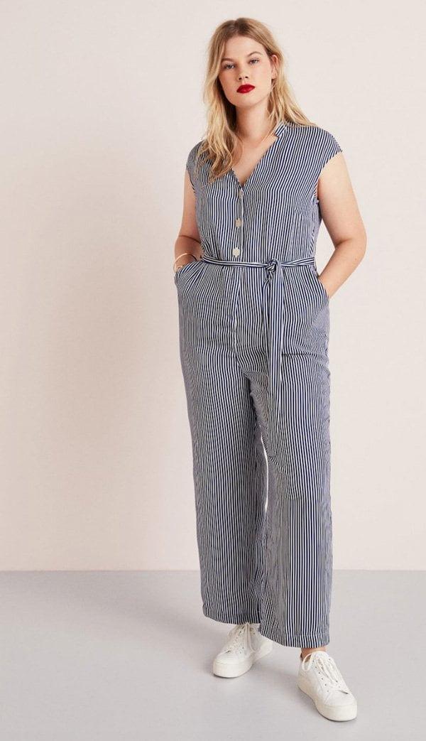 Coole Jumpsuits: Der Hey Pretty Fashion Flash (Mango Violeta gestreifter Overall)