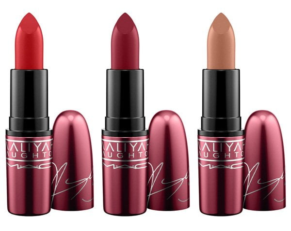 MAC Aaliyah Lipsticks in Hot Like, More Than a Woman und Try Again (Hey Pretty Beauty Blog Review)