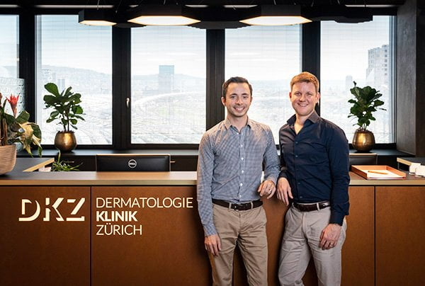 Dr. med. Piotr J. Michel-Dziunycz und Stephan M. Michel von der Dermatologie Klinik Zürich (Pressebild)