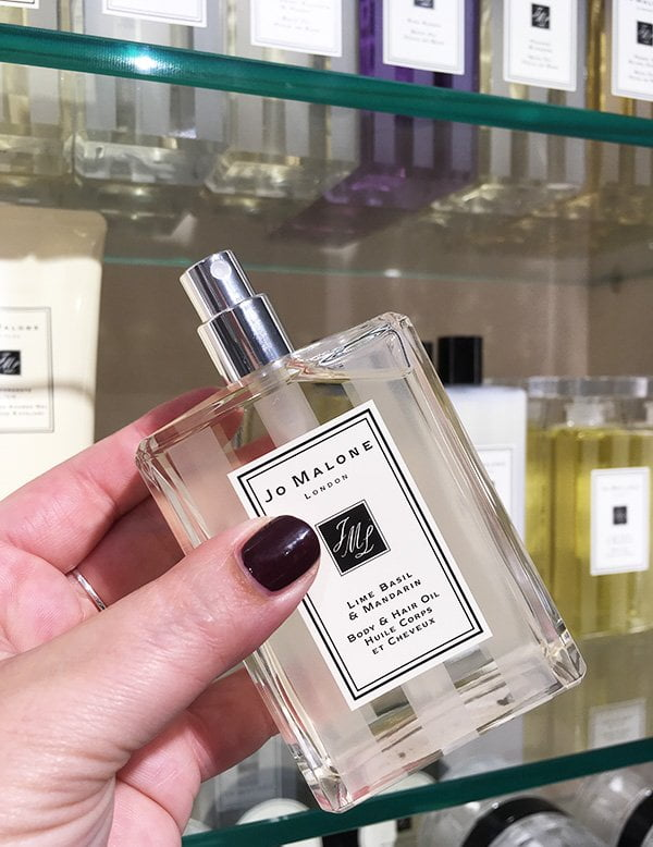 Jo Malone London Body & Hair Oil (Lime Basil & Mandarin), Review auf Hey Pretty