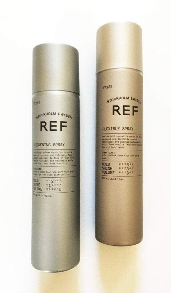 REF Stockholm Thickening Spray und Flexible Spray (Erfahrungsbericht auf Hey Pretty), erhältlich bei Puresense.ch