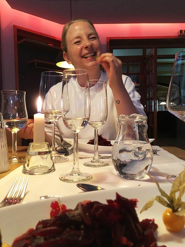 Vitalhotel Sonneck in Bad Wörishofen: Dinner im Restaurant (Hey Pretty Beauty Blog Erfahrungsbericht)