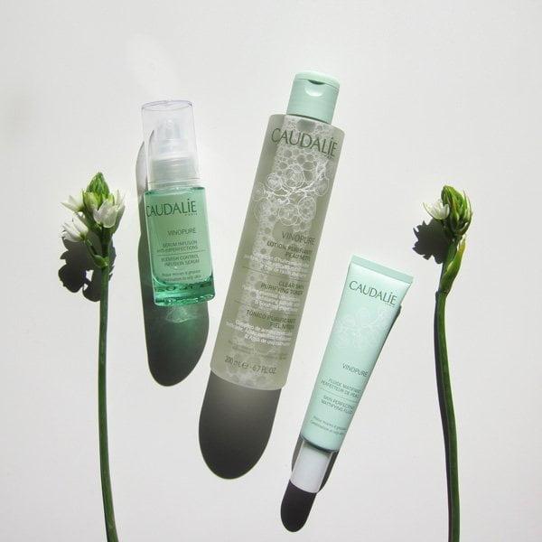 Caudalie Vinopure Gesichtspflegelinie zu gewinnen auf Hey Pretty Beauty Blog (mit Traubenpower gegen unreine Haut)