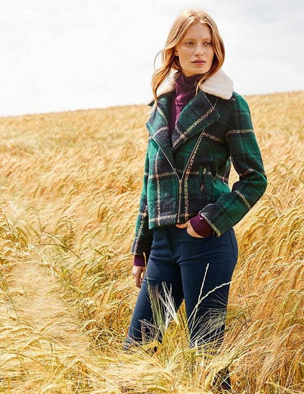 Endlich Herbstkleider, yay! Karierte Wolljacke von La Redoute (Hey Pretty Fashion Flash: Herbstmode 2018)