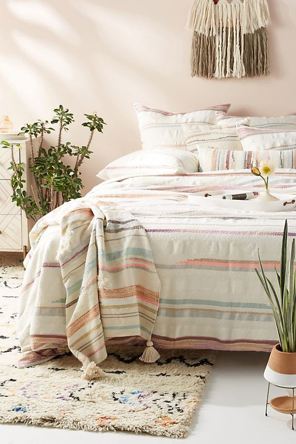 Jess Feury Woven Sunstreak Duvet Cover von Anthropologie (Hey Pretty Deko Flash)