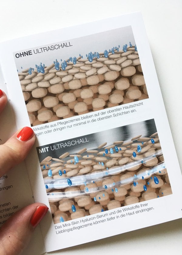 Tiefenwirkung dank Ultraschall: So funktioniert das Mira-Skin Ultraschall-Gerät (Hey Pretty Beauty Blog)
