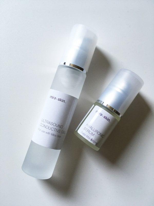 Mira-Skin Ultraschall-Gel und Hyaluron-Serum (Hey Pretty Beauty Blog Erfahrungsbericht, Werbung)