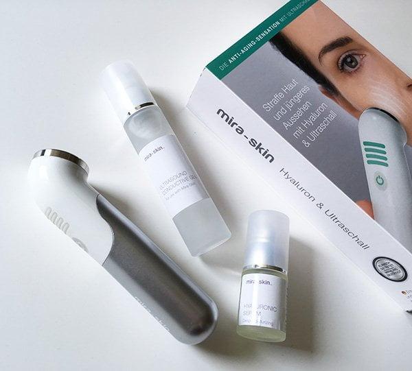 Mira-Skin Starter Kit: Ultraschallgerät, Serum und Ultrasound Conductive Gel (Hey Pretty Review): Anti Aging mit Ultraschall für Zuhause – exklusiv bei Marionnaud Schweiz erhältlich