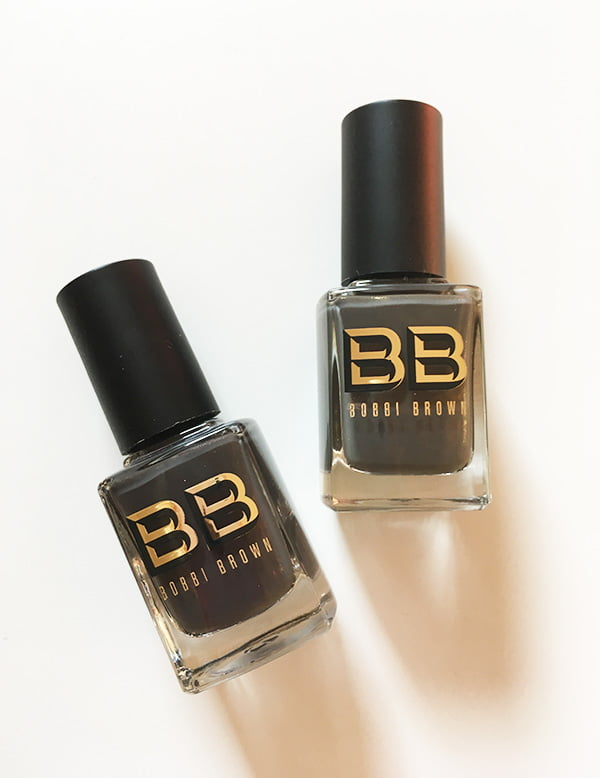 Bobbi Brown Camo Luxe Nail Polish in Khaki and Camo (Image and Review by Hey Pretty)
