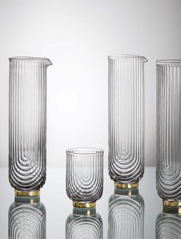 Winter Glamour auf Hey Pretty: Zara Home Gläser mit Metallboden und passender Krug