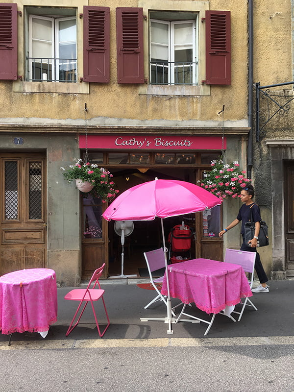 Cathy's Biscuits in Vevey (Spa Review Le Mirador auf Hey Pretty, Sightseeing in Vevey)