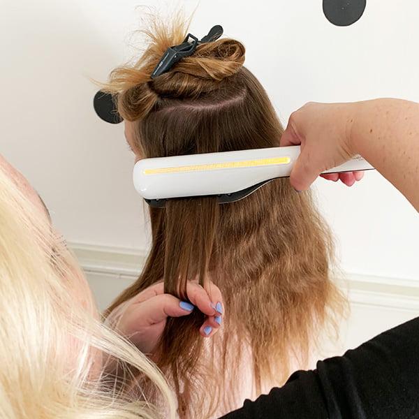 Haare glätten mit dem L'Oréal Steampod: Step Four (Hey Pretty Beauty Blog Erfahrungsbericht)
