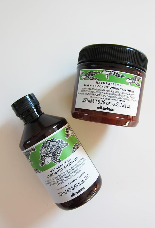 Davines Naturaltech Renewing Shampoo & Conditioner (Erfahrungsbericht auf Hey Pretty Beauty Blog für Davines Schweiz)