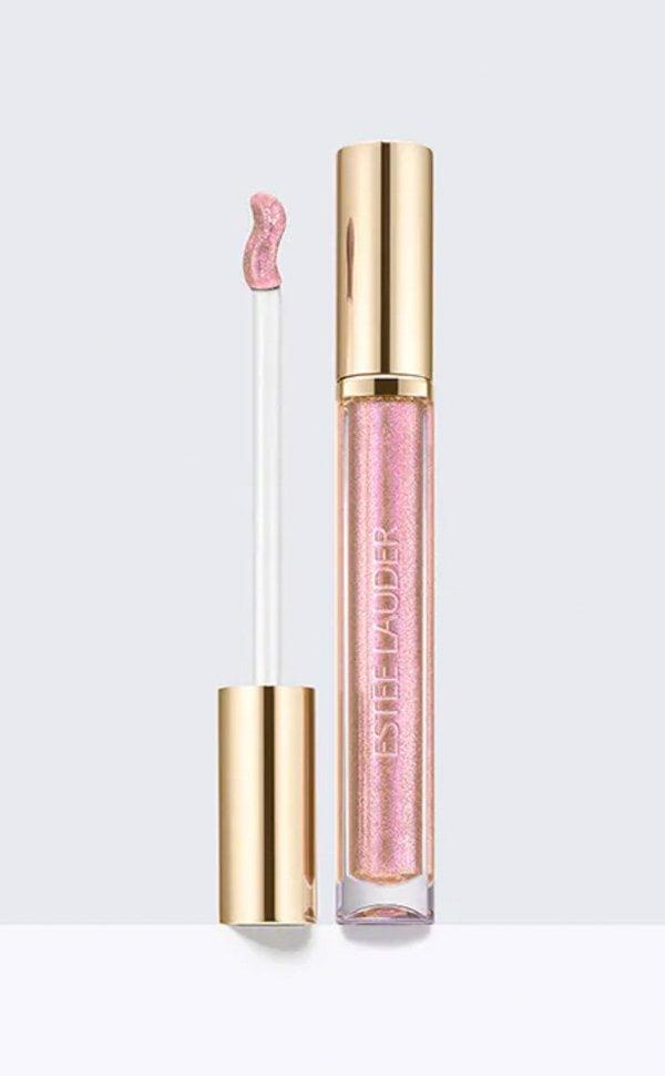 Glitter Make-Up Lieblinge: e Lauder Pure Color Love Liquid Lip in Pink Electron (Hey Pretty