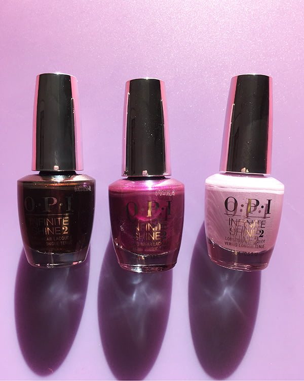 OPI Black to Reality, Berry Fairy Fun und Lavendare to Find Courage (The Nutcracker Holiday Collection 2018)
