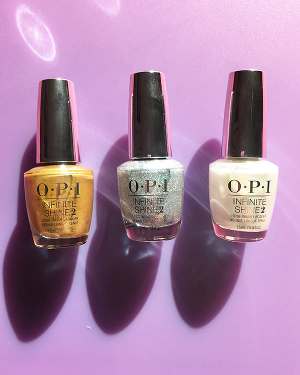 OPI Dazzling Dew Drop, Tinker, Thinker, Whinker? und Dancing Keeps Me on my Toes (The Nutcracker Holiday Collection 2018)