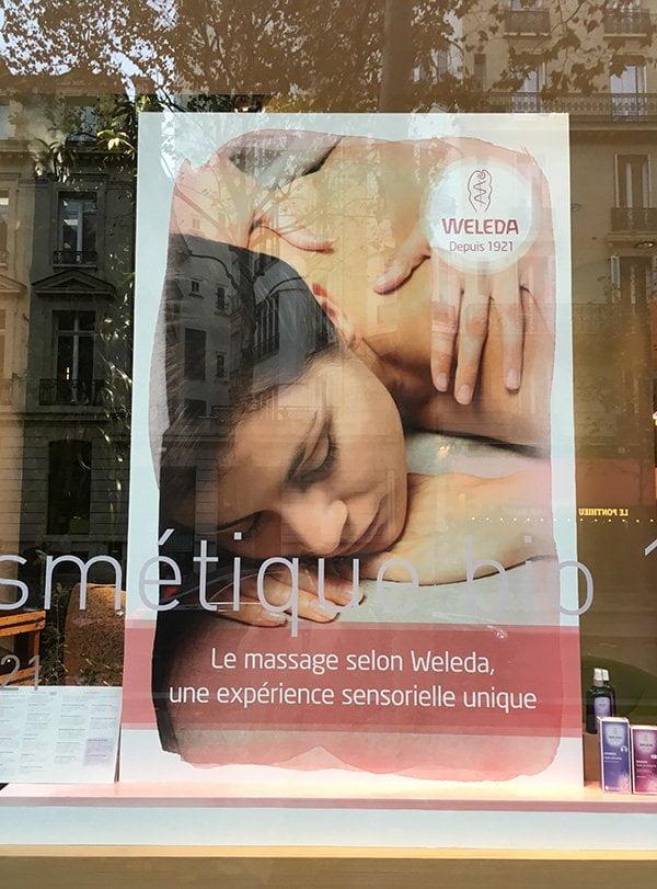 Espace Weleda Spa in Paris: Erfahrungsbericht auf Hey Pretty Beauty Blog (Schaufenster-Detail)