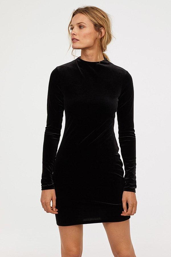 Fashion Flash: Partyröckli 2018 auf Hey Pretty – H&M Velours-Minikleid