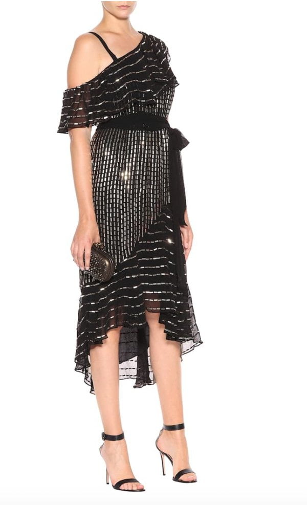 Temperley London One-Shoulder Kleid Mosaico (Hey Pretty Fashion Flash: Festtagsmode 2018)