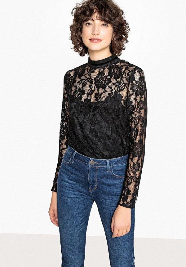 Spitzenbluse von La Redoute (Hey Pretty Fashion Flash: Partykleider 2018)