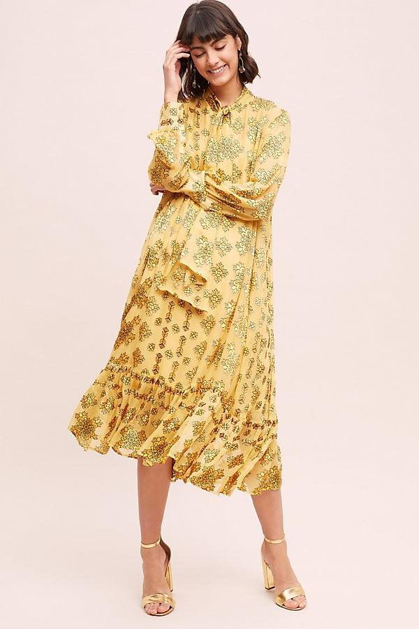 Partymode Fashion Flash auf Hey Pretty: Anthropologie Velvet 70s Dress (Hey Pretty)