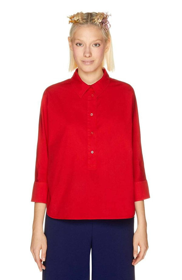 Benetton Kimono-Bluse in Rot (Hey Pretty Fashion Flash: Lass' mal Farbe rein!)