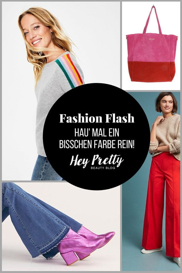 Fashion Flash auf Hey Pretty: Lass' e bitz Farbe rein! Farbenfrohe Wintermode gegen den Blues