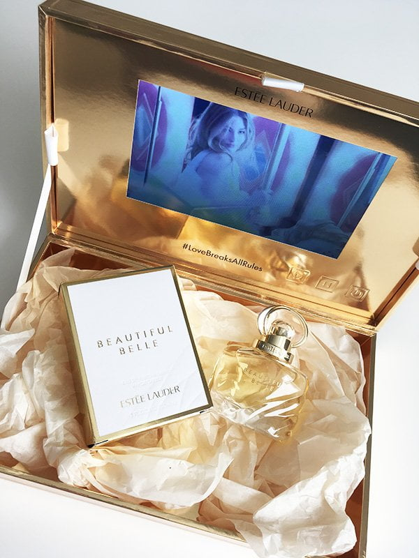 Estée Lauder Beautiful Belle Eau de Parfum: Presskit mit Screen und Werbeclip (Hey Pretty Beauty Blog 2019)