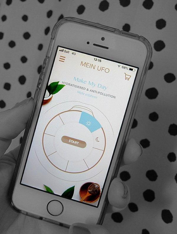 FOREO App zur Anwendung mit dem UFO mini (Review auf Hey Pretty)
