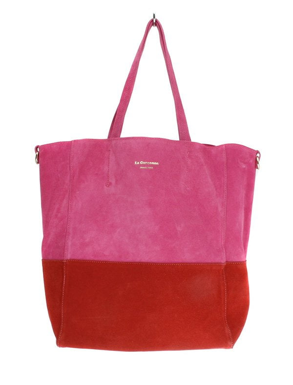 Leder-Shopper rot/pink von La Garconne bei On Y Va (Hey Pretty Fashion Flash: Lass' mal Farbe rein! Januar 2019)