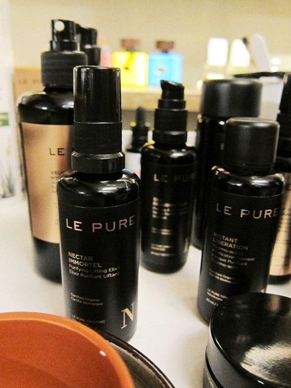 Gesichtsbehandlung mit Le Pure Produkten bei Mon Salon Vert @ Süskind Zürich (Spa Review auf Hey Pretty)