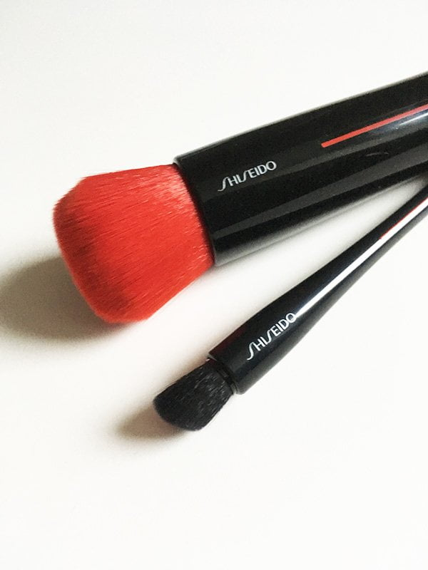Shiseido Makeup Relaunch, neue Pinsel: Daiya Fude Full Face Brush und Naname Fude Multi Eye Brush (Review auf Hey Pretty)
